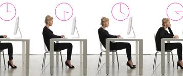 Lady sat at a desk